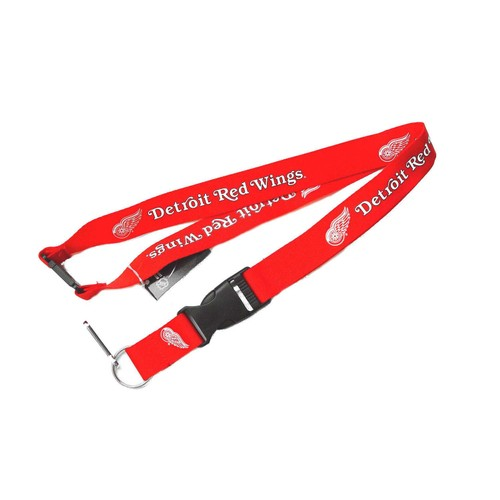 Detroit Red Wings Clip Lanyard Keychain Id Ticket Holder NHL - Red