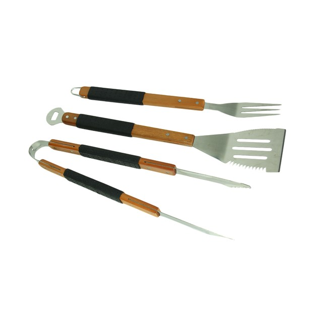 Mr. Bar-B-Q 3 Piece Stainless Steel Barbecue Barbecue Tool Sets