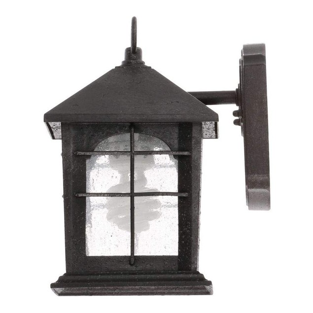 Home Decorators Collection LED 1-Light Aged Iron Finish Wall Lantern Sconce