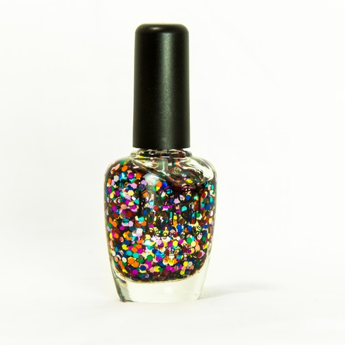 Piggy Polish Glam Slam, Multi Big Flakes of Colorful Glitter