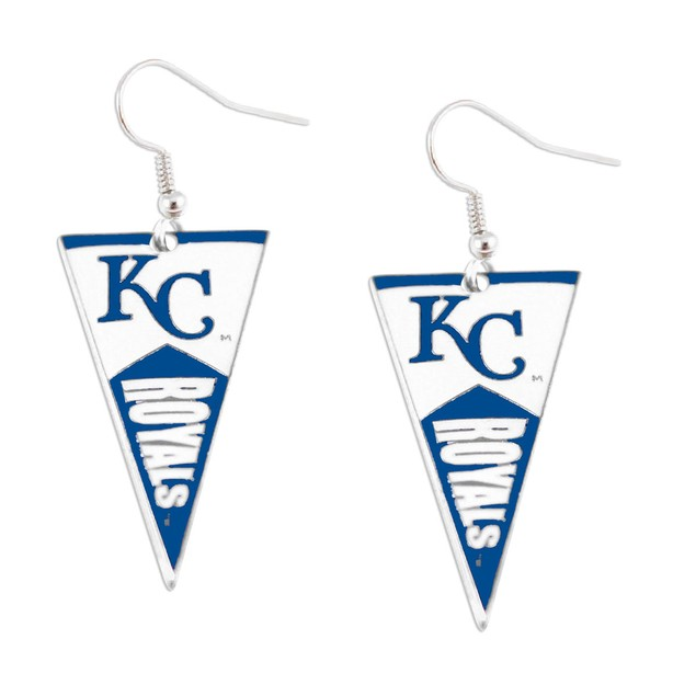 Kansas City Royals MLB Pennant Dangle Earring