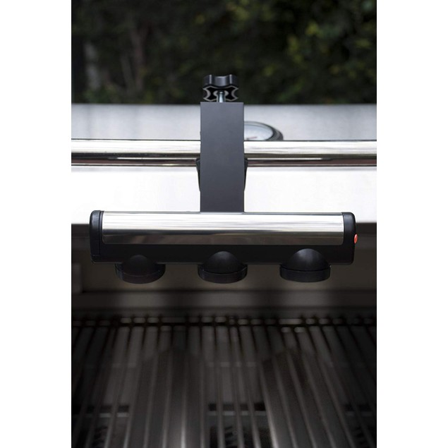 Charcoal Companion LED Grill Light w/ Two Way Adjustable Arm, Black/Silver