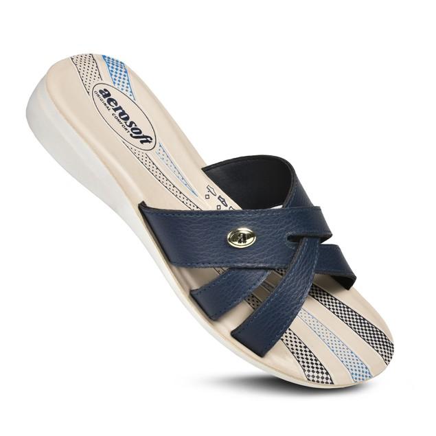 AEROSOFT Gladiator Comfortable Summer Slide Sandals for Women