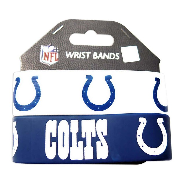 Indianapolis Colts Rubber Wrist Band (Set of 2) NFL