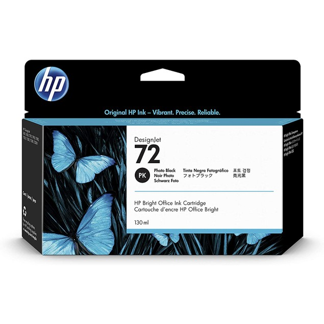 Hewlett-Packard Hp 72 (c9370a) Photo Black Original Ink Cartridge (130 Ml) - Design for The Environment (dfe), Taa