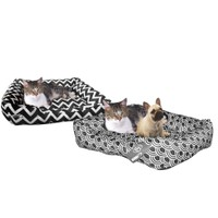 Zummy Quiet Time Pet Dog Aztec Style Low Bumper Bed