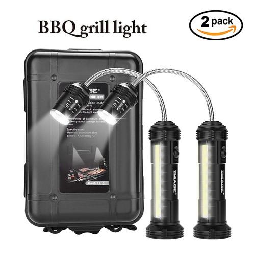 2-Pack 360º Bbq Grill Light Led Magnetic Base Lamp Set