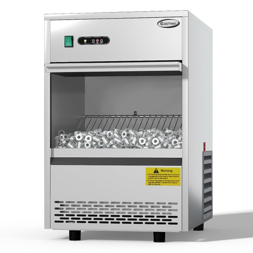 Costway Commercial Automatic Ice Maker Machine 70lbs/24h Stainless Steel Fr
