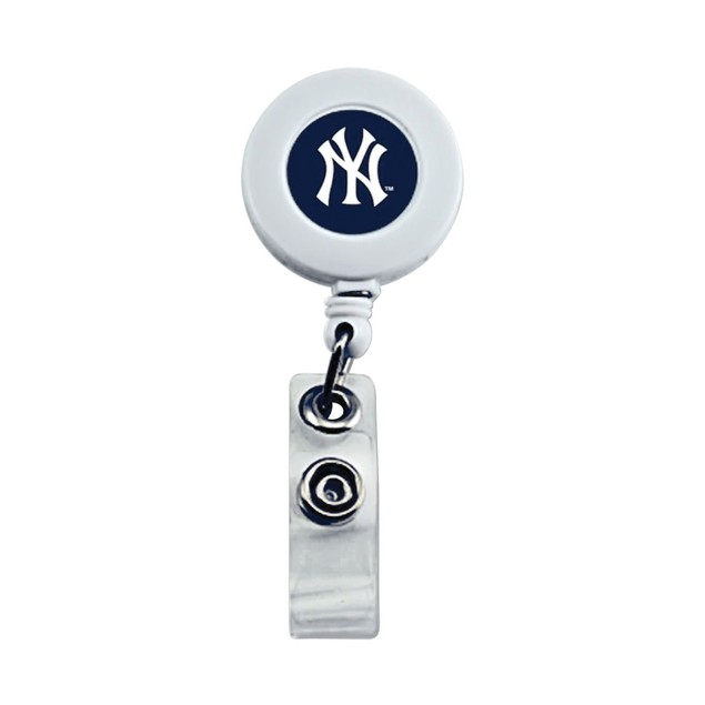 New York Yankees Retractable Badge Reel Id Ticket Clip