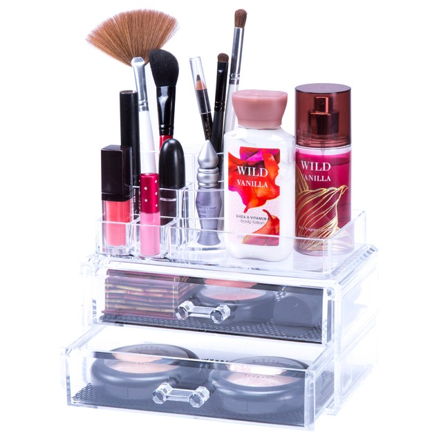 Lavish Home Jewelry & Cosmetic Organizer Two Piece Set