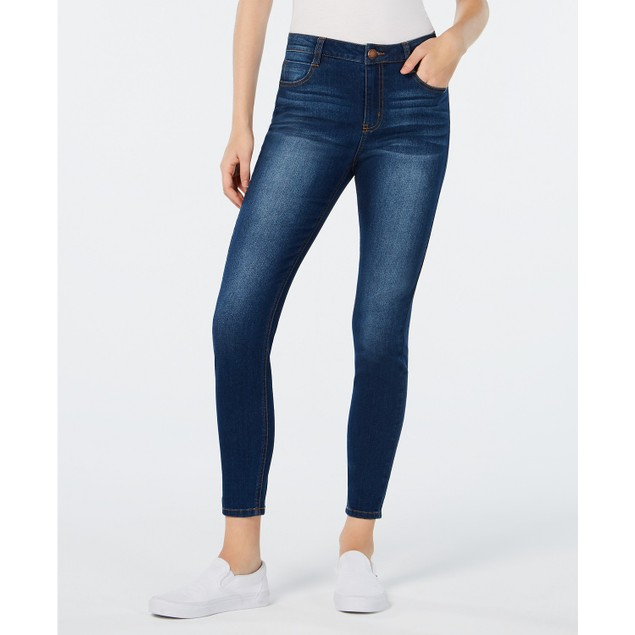 Tinseltown Juniors' High Rise Skinny Jeans Blue Size 15
