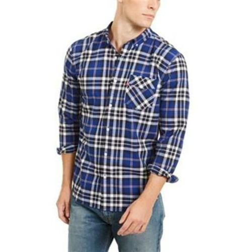 Levi's Men's Plaid Button-Down Shirt Blue Size XX-Large