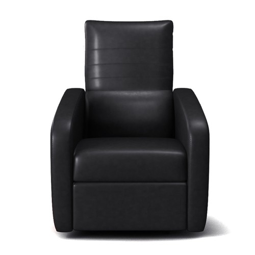 Costway Manual Recliner Chair Contemporary Foldable-Back Leather Reclining