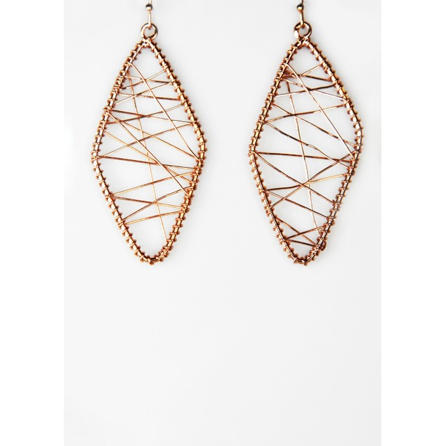 Abstract Wired Drop Earrings