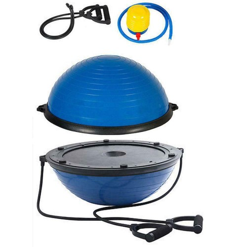 """New 23"""" Physical Exercise Fitness Yoga Balance Trainer Half Ball w/Pum"""