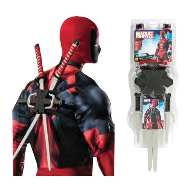 Ninja Swords and Knives Deadpool Weapon Kit Costume Prop
