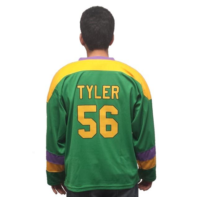 """Russ """"Knuckle Puck"""" Tyler #56 Ducks Hockey Jersey"""