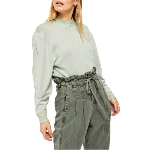 Free People Women's Starry Night Shimmer Sweater  Gray Size Medium