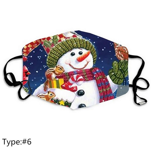 3-Pack Reusable Non-Medical Christmas Holiday Face Masks