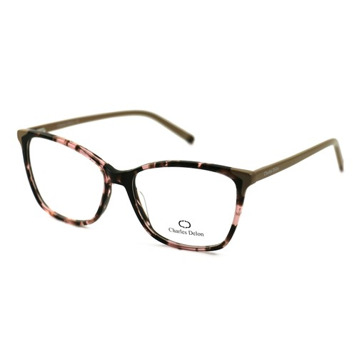 Charles Delon Women's Eyeglasses P6110 C3 Havana/Beige 54 16 140 Square Plastic