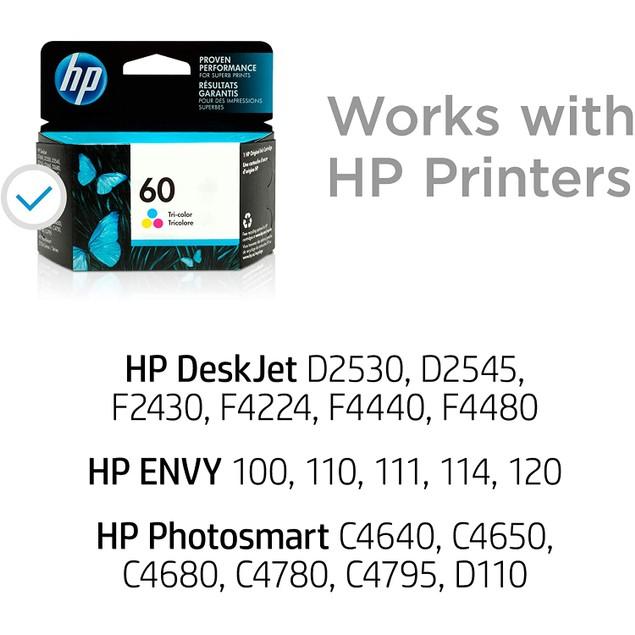 HP 60   Ink Cartridge   Tri-color   CC643WN