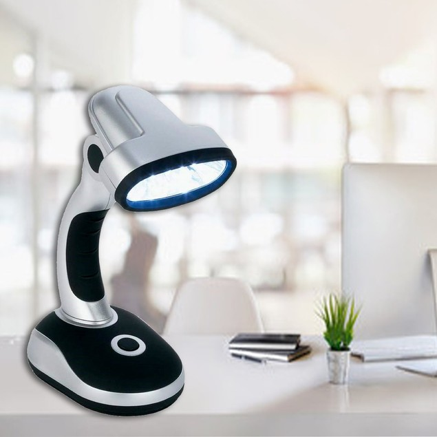 12-Bulb LED Desk Lamp with Adjustable Head