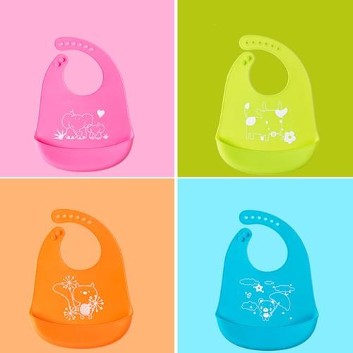 4-Pack Children's Baby Printed Animal Waterproof Rice Pocket
