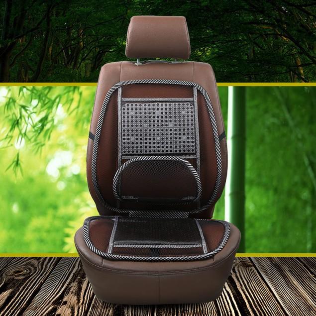 Single Seat + Pillow Car Supplies Lumbar Support Universal Massage Cushion Air Cushion Car Use