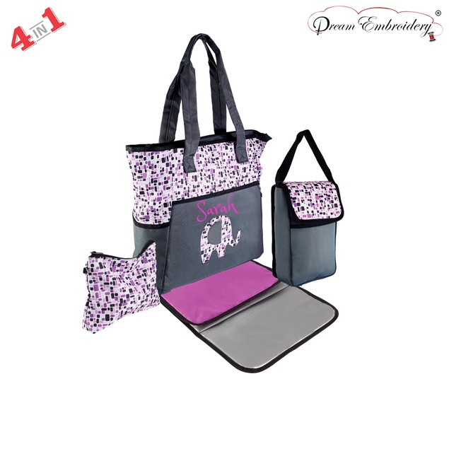 Personalzed 4 in 1 Premium Maternity Diaper Bag Set