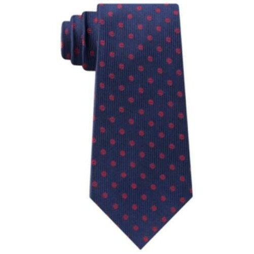 Tommy Hilfiger Men's Mont Classic Dot Stripe Tie Pasblue Size Regular