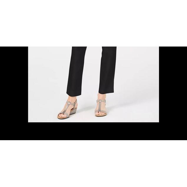 JM Collection Women's Grommet-Waist Pants Black Size XX-Large