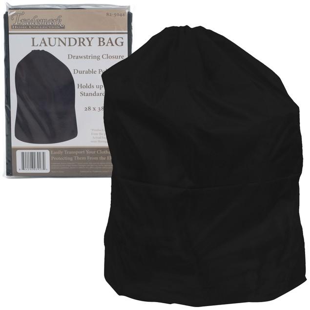 Heavy Duty Jumbo Sized Nylon Laundry Bag - BLACK