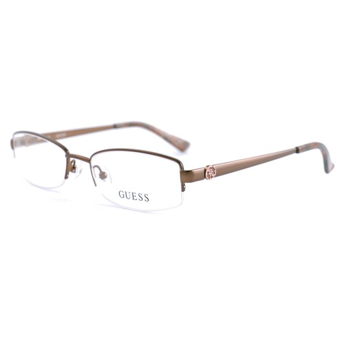 Guess Women  GU2525 049 Metallic Brown 50 17 135 Semi Rimless Oval