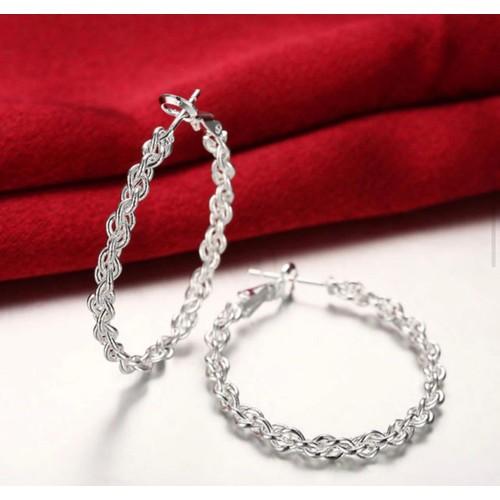 Chain Style Hoop Earrings