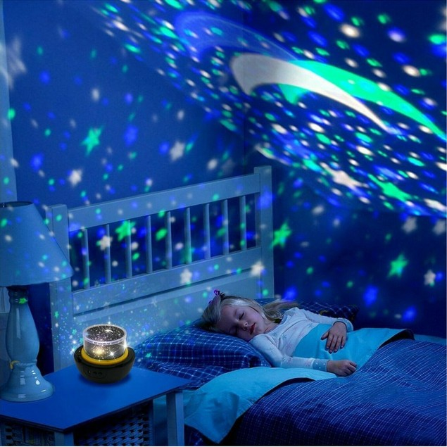 LED Star and Moon Night Time Projector
