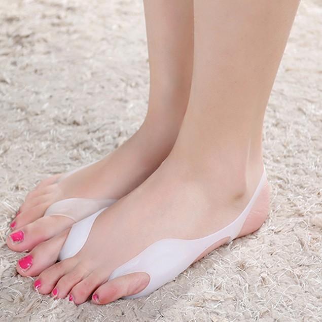 Silicone Hallux Valgus Bunion Relief Footcare Toe Separators Straightener