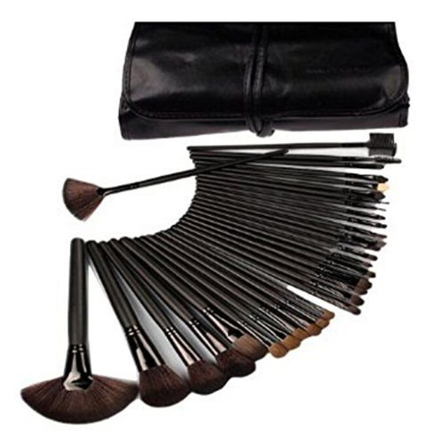 Women's Makeup Brush 24 Piece Set Cosmetic Toolkit Plus Case