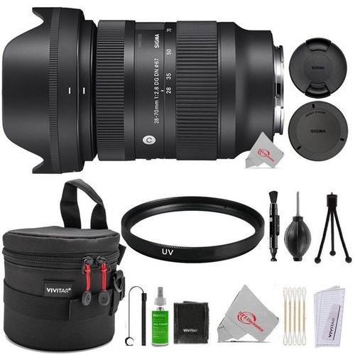 Sigma 28-70mm f/2.8 DG DN Contemporary Lens for Sony E + UV Filter + Case + Cleaning Accessory Kit