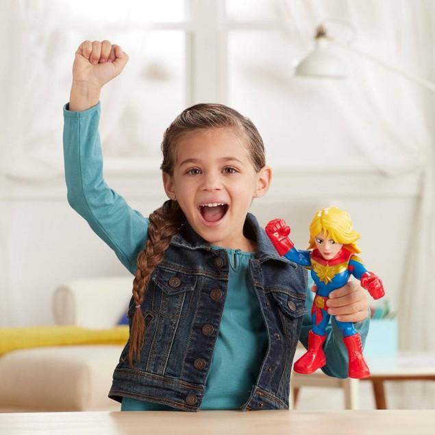 "Marvel 10"" Super Hero Adventures Captain Action Figure Mega Mighties,"