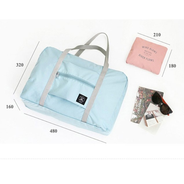 Jacquard Foldable Travel Bag Large Capacity Luggage Bag