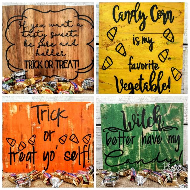 Rustic Halloween Pallet Board Signs