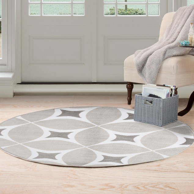 Lavish Home Geometric Area Rug