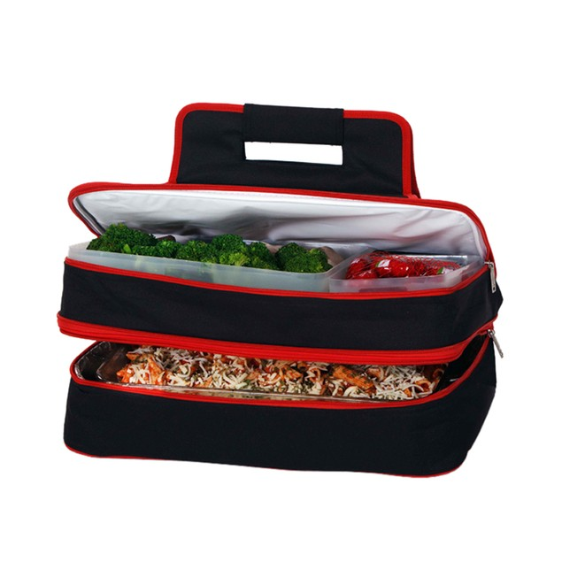 Picnic Plus Entertainer Hot & Cold Food Carrier Black/Red