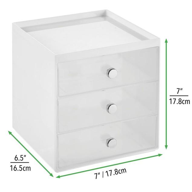 mDesign Plastic Home Office Desk Organizer Storage Station