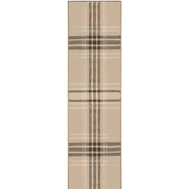 Tartan Striped Area Rug Collection