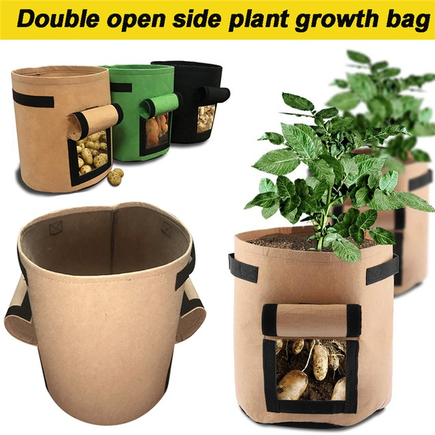 Double Open Sided Potato Vegetable Planting Grow Bag