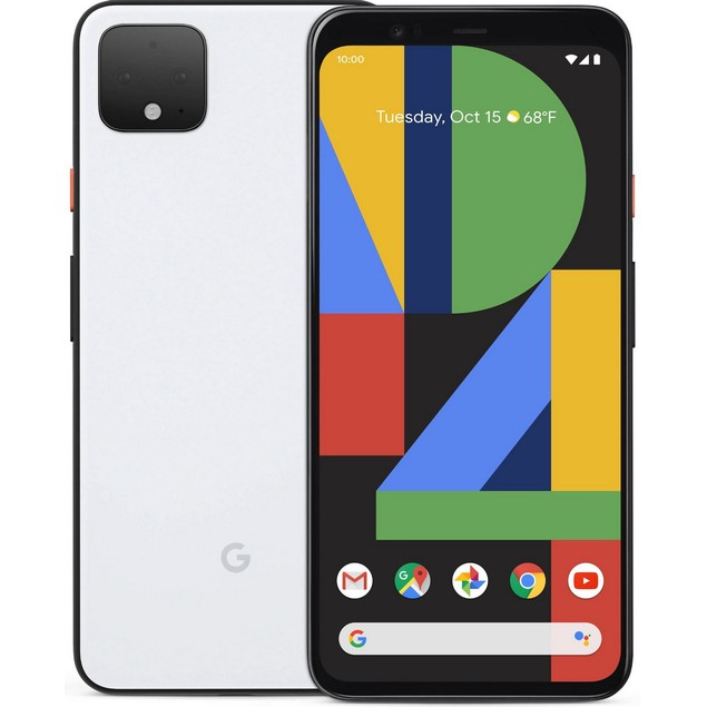 Google Pixel 4, AT&T, White, 128 GB, 5.7 in Screen