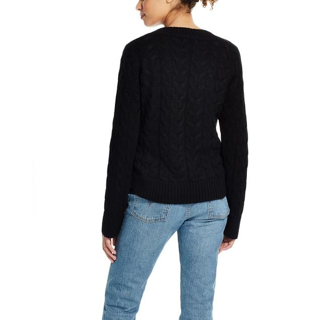 Weatherproof Vintage Women's Side Tie Sweater Black Size Medium