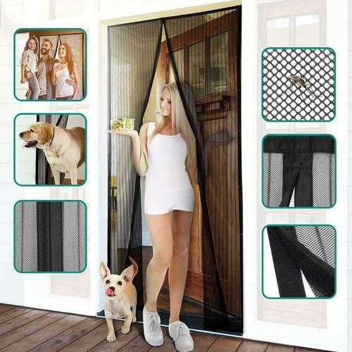 Hands-Free Mesh Magnetic Screen Door