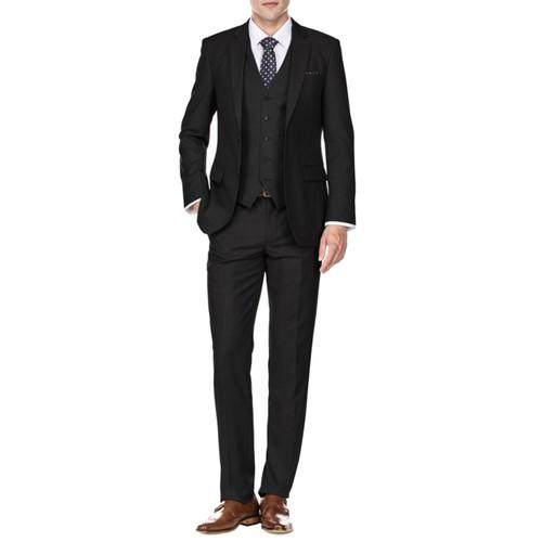 Braveman Men's Slim Fit 3PC Solid Suits